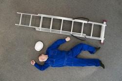 work accident ladder