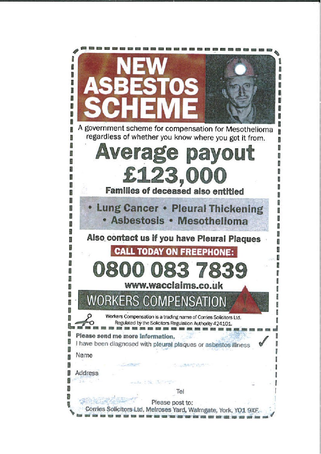 Asbestos Lung Cancer Archives Corries Solicitors Ltd